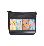 POKEMON Starting Characters Messenger Bag, Black/Dark Blue