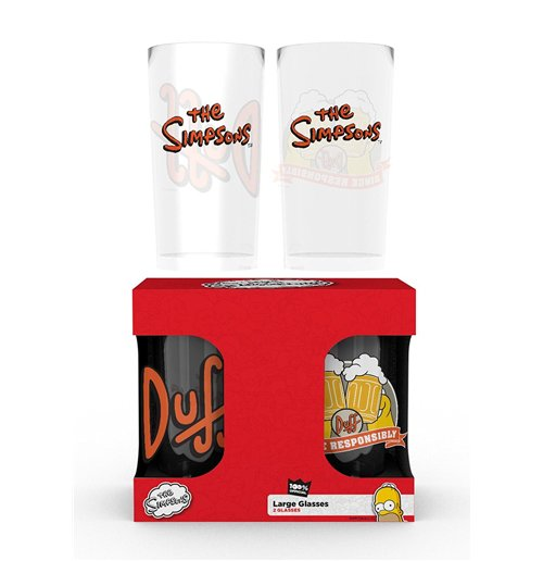 The Simpsons Glass Set - Home Beer