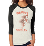 Wonder Woman - Retro - Unisex Baseball Shirt White