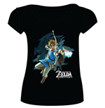 The Legend of Zelda Breath of the Wild Ladies T-Shirt Link with Arrow