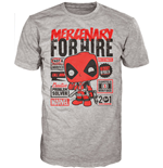 Marvel Comics POP! Tees T-Shirt Deadpool Mercenary For Hire