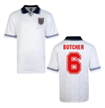 Score Draw England World Cup 1990 Home Shirt (Butcher 6)