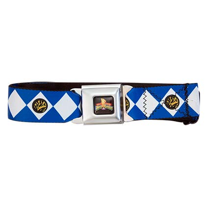 POWER RANGERS Blue Seatbelt Buckle Belt