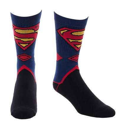 SUPERMAN Men's Costume Crew Socks