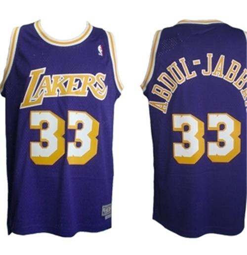 hot sale online 6ff9d 051ea Los Angeles Lakers Kareem ABDUL-JABBAR Jersey