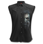 BIO-SKULL - Sleeveless Stone Washed Worker Black