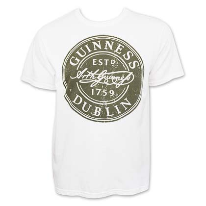 GUINNESS Bottle Cap Label Tee Shirt