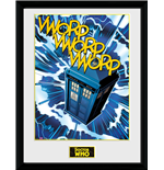 Doctor Who Framed Print - Tardis Comic - 30 x 40 cm