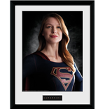 Supergirl Framed Print - Portrait - 30x40 Cm