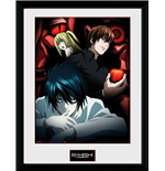 Death Note Framed Print - Light L And Misa - 30x40 Cm