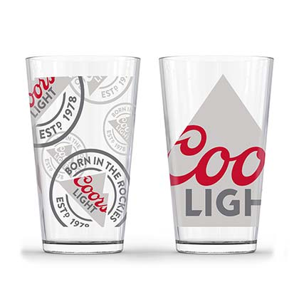COORS Light Pint Glass Set