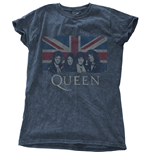 Queen Ladies Fashion Tee: Vintage Union Jack