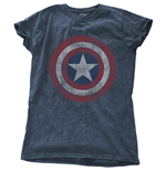 Marvel Comics Ladies Fashion Tee: Avengers Assemble Cap