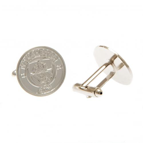 Manchester City F.C. Silver Plated Cufflinks CR