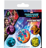 Guardians of the Galaxy Vol. 2 Pin Badges 5-Pack Cosmic