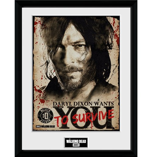 The Walking Dead Framed Print - Daryl Needs You -  30x40 Cm