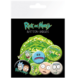 Rick and Morty Badge Pack - Characters