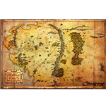 The Hobbit - Map Maxi Poster (61 x 91,5 cm)