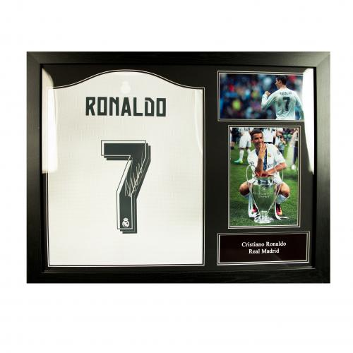 Real Madrid F.C. Ronaldo Signed Shirt (Framed)