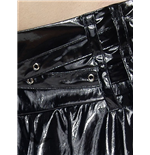 Latex look mini with 2 criss-cross belts