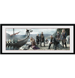 Vikings Framed Print - Beach - 75x30 Cm