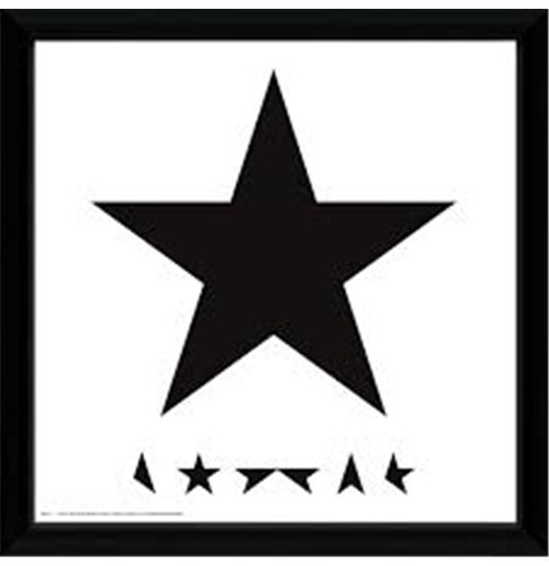 David Bowie Framed Print - Blackstar - 30x30 Cm