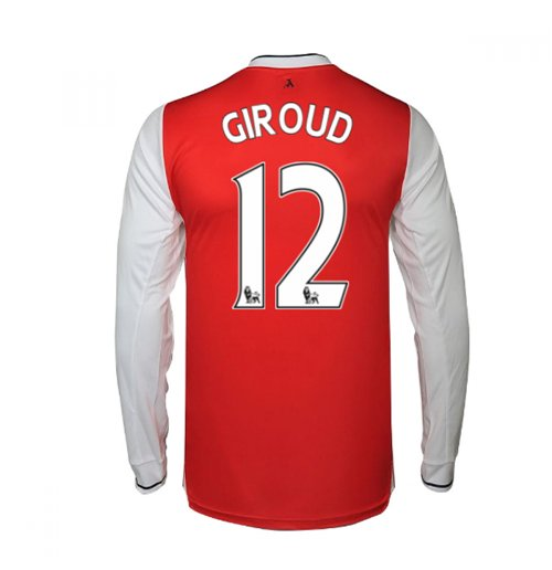 2016-17 Arsenal Long Sleeve Home Shirt (Giroud 12)
