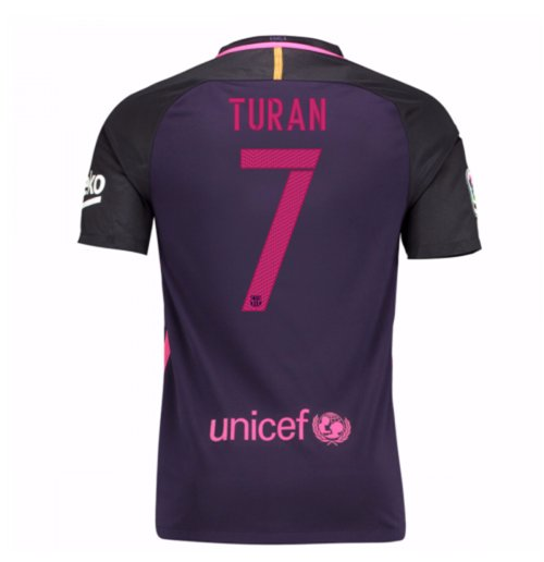 2016-17 Barcelona With Sponsor Away Shirt - (Kids) (Turan 7)
