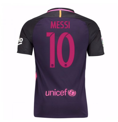 2016-17 Barcelona With Sponsor Away Shirt - (Kids) (Messi 10)