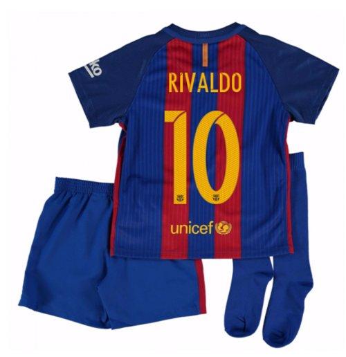 online store b942b 33ba1 2016-17 Barcelona Home Mini Kit Shirt (Rivaldo 10)