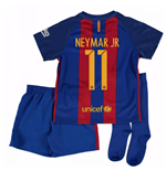 2016-17 Barcelona Home Little Boys Mini Kit (With Sponsor) (Neymar JR 11)