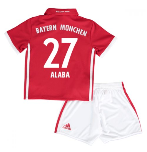 2016-17 Bayern Munich Home Mini Kit (Alaba 27)