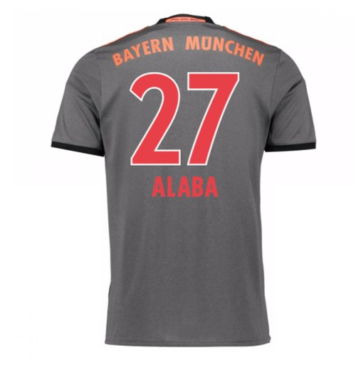2016-17 Bayern Munich Away Shirt (Alaba 27) - Kids