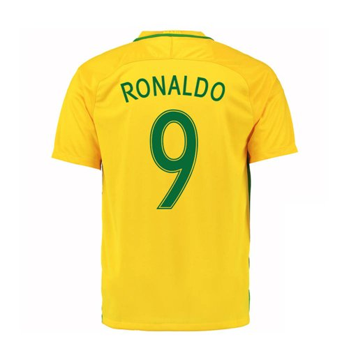 Official 2016-17 Brazil Home Shirt (Ronaldo 9)  Buy Online on Offer 6085d9cb5