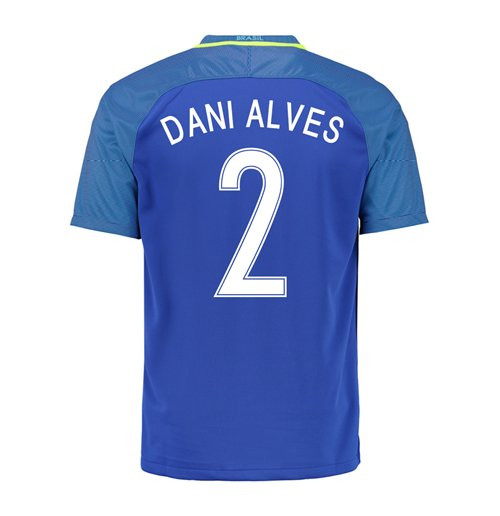 2016-17 Brazil Away Shirt (Dani Alves 2)