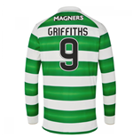2016-17 Celtic Long Sleeve Home Shirt (Griffiths 9) - Kids