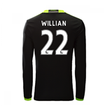 2016-17 Chelsea Away Long Sleeve Shirt  (Willian 22)