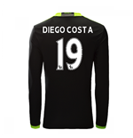 2016-17 Chelsea Away Long Sleeve Shirt  (Diego Costa 19)