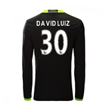 2016-17 Chelsea Away Long Sleeve Shirt  (David Luiz 30)