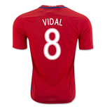 2016-17 Chile Home Shirt (Vidal 8) - Kids