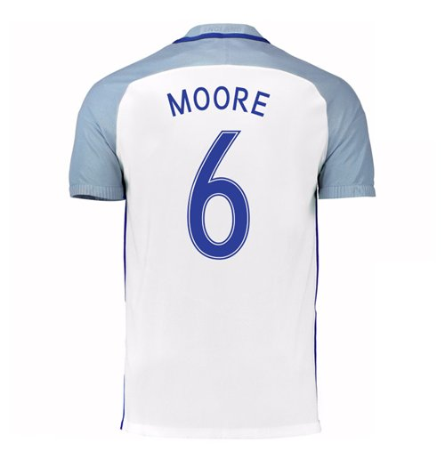 2016-17 England Home Shirt (Moore 6) - Kids
