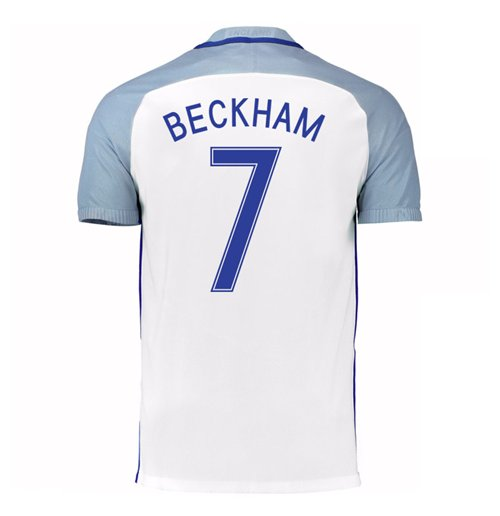 2016-17 England Home Shirt (Beckham 7) - Kids