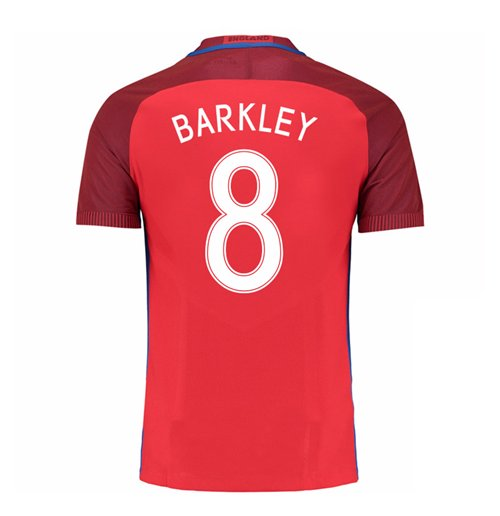 2016-17 England Away Shirt (Barkley 8) - Kids