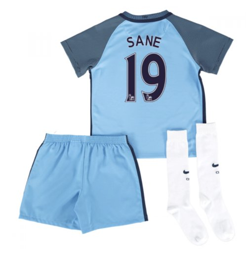 2016-17 Man City Home Mini Kit (Sane 19)