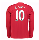 2016-17 Man United Home Long Sleeve Shirt (Rooney 10)