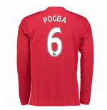 2016-17 Man United Home Long Sleeve Shirt (Pogba 6)