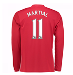 2016-17 Man United Home Long Sleeve Shirt (Martial 11)