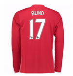 2016-17 Man United Home Long Sleeve Shirt (Blind 17)