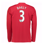2016-17 Man United Home Long Sleeve Shirt (Bailly 3)