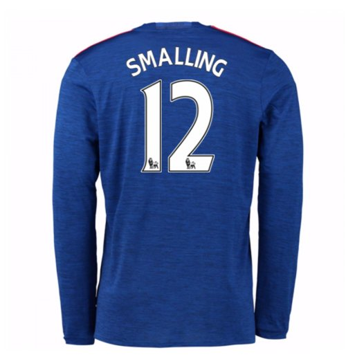 2016-17 Man United Away Long Sleeve Shirt (Smalling 12)
